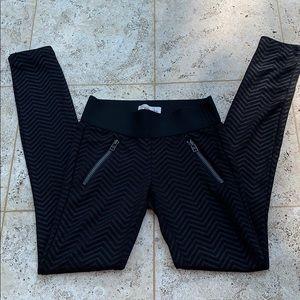 Rewind Black Skinny Leggings Moto Style Size XS